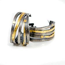 Wide Wave Hoop Earrings by Lori Gottlieb (Gold & Silver Earrings)