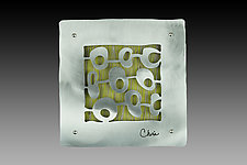 "7"" Tile with Olive Motif by Cherie Haney (Metal Wall Sculpture)"