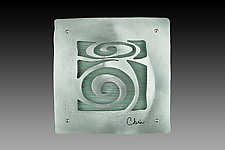"7"" Tile With Spiral Motif by Cherie Haney (Metal Wall Sculpture)"