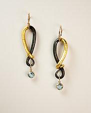 VO Reserve Earrings by Valerie Ostenak (Gold, Steel & Stone Earrings)
