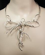 Moonlight Vines II by Valerie Ostenak (Silver Necklace)