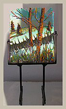 The Meadow Beyond by Alice Benvie Gebhart (Art Glass Sculpture)