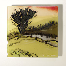 Warmth of the Moving Air by Alice Benvie Gebhart (Art Glass Wall Sculpture)