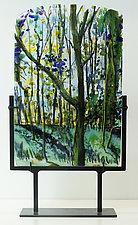 Stands Firm in the Wilderness by Alice Benvie Gebhart (Art Glass Sculpture)