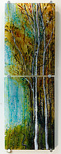 Autumn Song by Alice Benvie Gebhart (Art Glass Wall Sculpture)