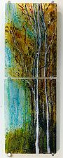 Autumn Song by Alice Benvie Gebhart (Art Glass Wall Sculpture)
