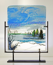 Snow Covered Clearing by Alice Benvie Gebhart (Art Glass Sculpture)