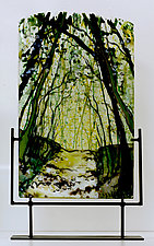 Path of Mystery by Alice Benvie Gebhart (Art Glass Sculpture)