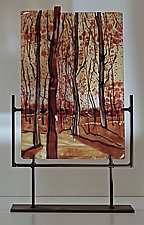 Seasonal Pleasures by Alice Benvie Gebhart (Art Glass Sculpture)