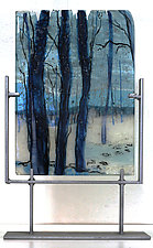 Footsteps in Winter by Alice Benvie Gebhart (Art Glass Sculpture)