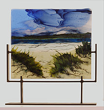Stormy Seaside by Alice Benvie Gebhart (Art Glass Sculpture)