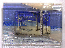 Winter Song by Alice Benvie Gebhart (Art Glass Wall Sculpture)