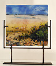 Warmth of the Sand by Alice Benvie Gebhart (Art Glass Sculpture)