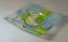 Confetti Dish III by Alice Benvie Gebhart (Art Glass Plate)