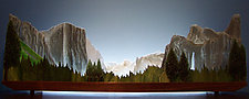 Yosemite by Bernie Huebner and Lucie Boucher (Art Glass Sculpture)