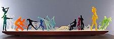Pas de Deux on Ice by Bernie Huebner and Lucie Boucher (Art Glass Sculpture)