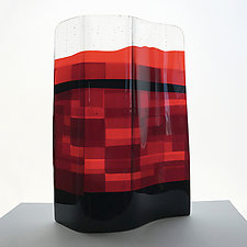 Sunset Glow by Sabine  Snykers (Art Glass Sculpture)