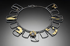 Multiframed Necklace 2 by Lori Gottlieb (Gold & Silver Necklace)