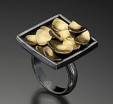 Golden Pebbles Ring by Lori Gottlieb (Gold & Silver Ring)