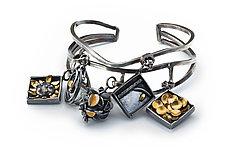 Charm Bracelet Cuff by Lori Gottlieb (Gold & Silver Bracelet)