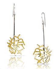 Astro Earring 4 by Lori Gottlieb (Gold & Silver Earrings)