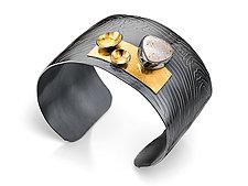 Signature Cuff by Lori Gottlieb (Gold, Silver & Stone Bracelet)