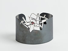 Breaking Out Cuff by Lori Gottlieb (Silver & Stone Bracelet)