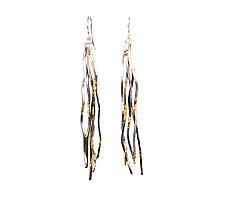 Long Ombre Waterfall Earrings by Lori Gottlieb (Gold & Silver Earrings)