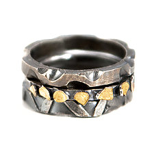 Stacking Rings by Lori Gottlieb (Gold & Silver Ring)