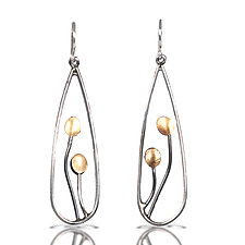 Pod Earrings by Lori Gottlieb (Gold & Silver Earrings)