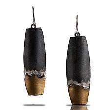 Midnight on the Water Earrings by Lori Gottlieb (Gold & Silver Earrings)