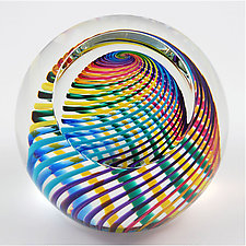 Zephyr Paperweight by Paul D. Harrie (Art Glass Paperweight)
