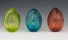 Spring Bubble Eggs by Paul Lockwood (Art Glass Sculpture)