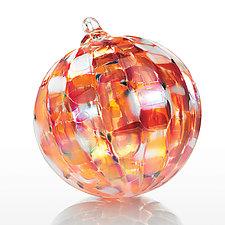 Yuletide Fire by Paul Lockwood (Art Glass Ornament)