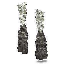 Flutter Series Petal Earrings by Debra Adelson (Silver Earrings)