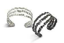 Flutter Series Triple Band Cuff by Debra Adelson (Jewelry Bracelets)