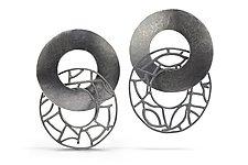 Freewheeler by Beverly Tadeu (Silver Earrings)