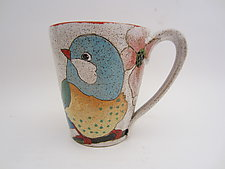 'Flowers, Birds & Berries' Large Mug by Dwo Wen Chen (Ceramic Mug)