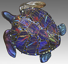 Life-Size Sea Turtle by Karen Ehart (Art Glass Sculpture)