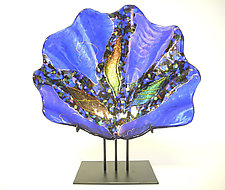Opal Shell Sculpture by Karen Ehart (Art Glass Bowl)