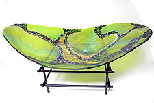 Peridot Moon Basin by Karen Ehart (Art Glass Bowl)