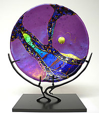 Amethyst Moon by Karen Ehart (Art Glass Sculpture)