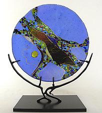Opal Moon by Karen Ehart (Art Glass Platter)