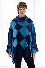 Cuffed Cowl Tunic by Laura Hunter  (Shibori Sweater)