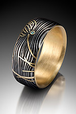 Thistle Ring by Victoria Moore (Gold, Steel & Stone Ring)
