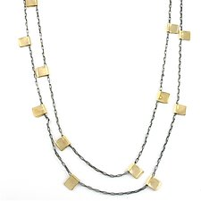 Gold Filled Tab Chain by Alice Roche (Gold & Silver Necklace)