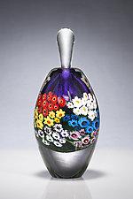 Violet Landscape Series Perfume by Shawn Messenger (Art Glass Perfume Bottle)