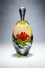 Yellow Landscape Series Perfume by Shawn Messenger (Art Glass Perfume Bottle)