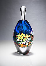 Blue Landscape Series Perfume by Shawn Messenger (Art Glass Perfume Bottle)