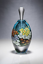 Turquoise Landscape Series Perfume by Shawn Messenger (Art Glass Perfume Bottle)